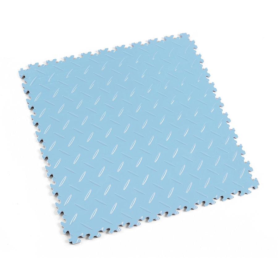 Modrá plastová vinylová zátěžová dlaždice Industry 2010 (diamant), Fortelock - délka 51 cm, šířka 51 cm a výška 0,7 cm
