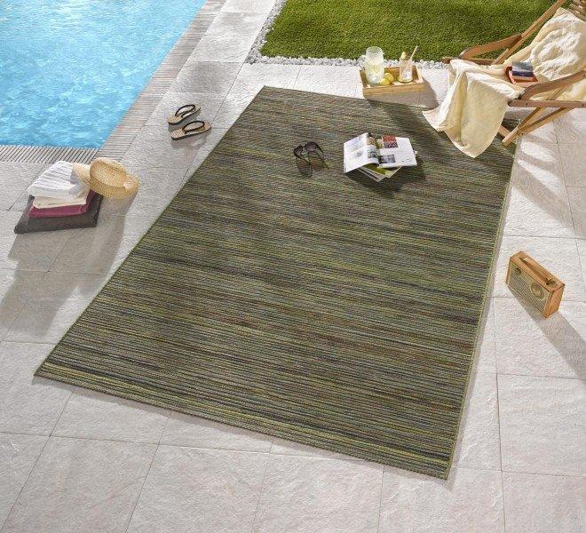 Zelený bytový kusový obdélníkový koberec Lotus