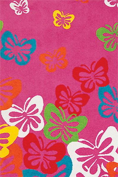 Růžový kusový dětský koberec Play - délka 170 cm a šířka 120 cm