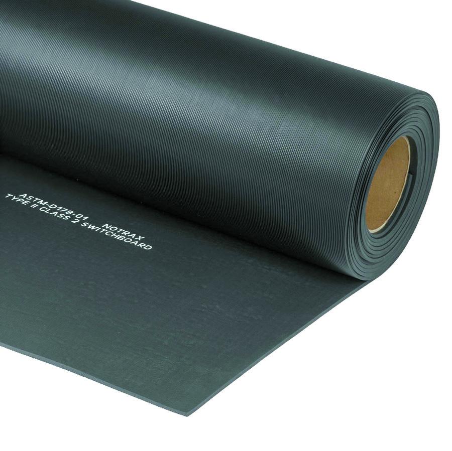 Černá elektroizolační průmyslová rohož - šířka 130 cm a výška 0,5 cm