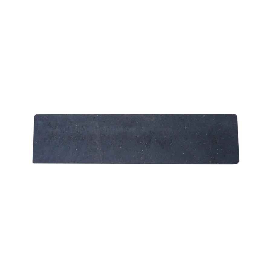 """Černý plastový nájezd """"pod"""" pro plastové podlahové desky - délka 40 cm, šířka 10 cm a výška 4,3 cm"""