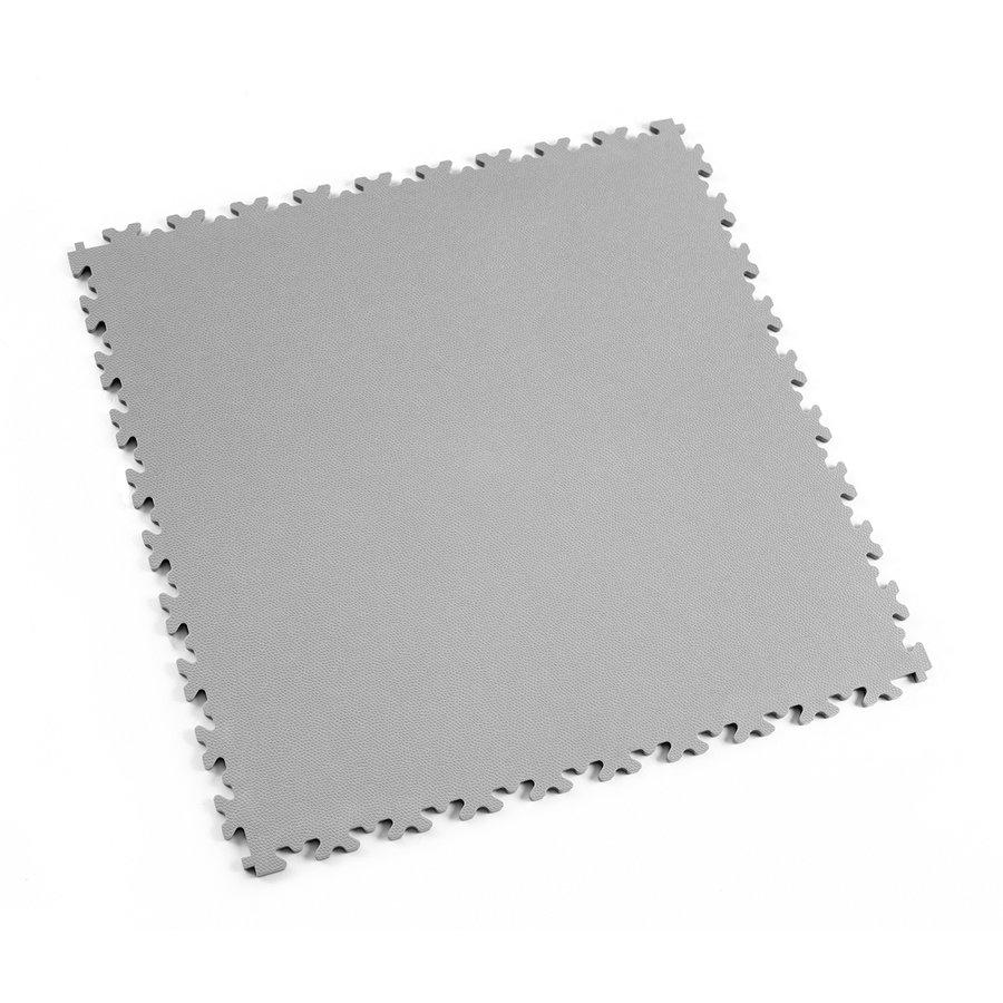 Šedá vinylová plastová zátěžová dlaždice Industry 2020 (kůže), Fortelock - délka 51 cm, šířka 51 cm a výška 0,7 cm