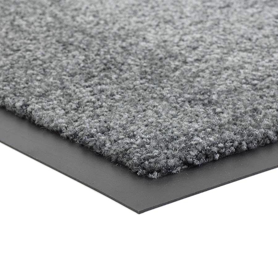 Šedá čistící vnitřní vstupní pratelná rohož Twister, FLOMA - výška 0,8 cm