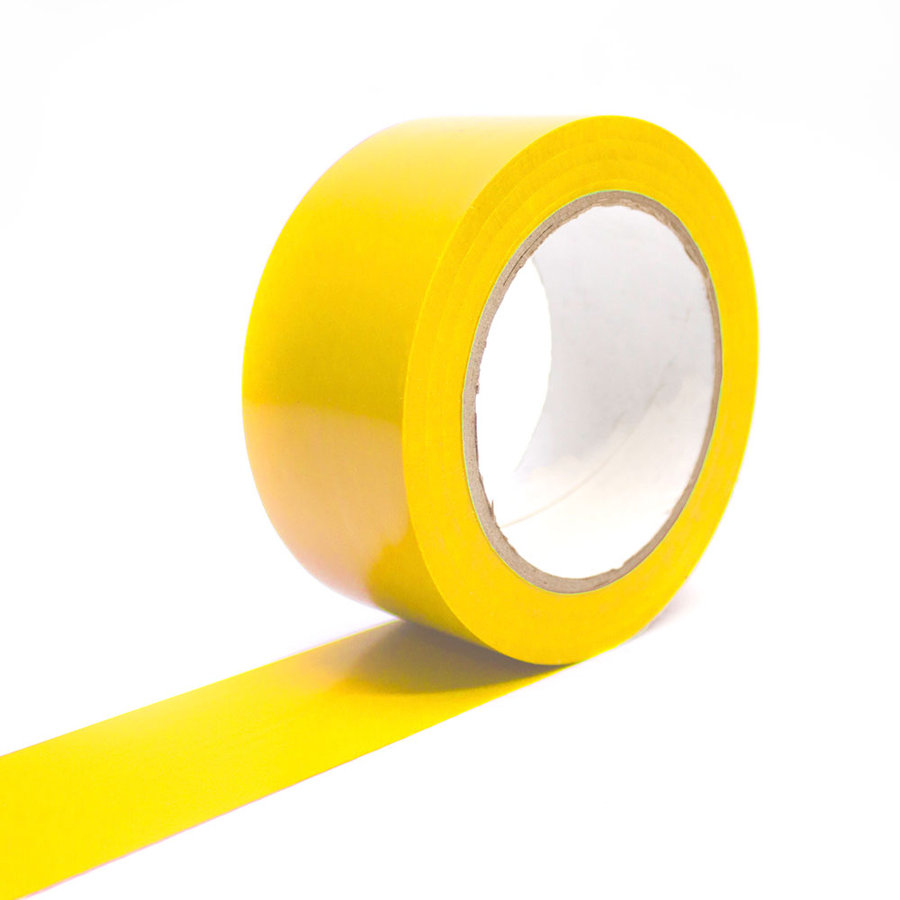 Žlutá vyznačovací podlahová páska - 33 m x 5 cm (80000286)