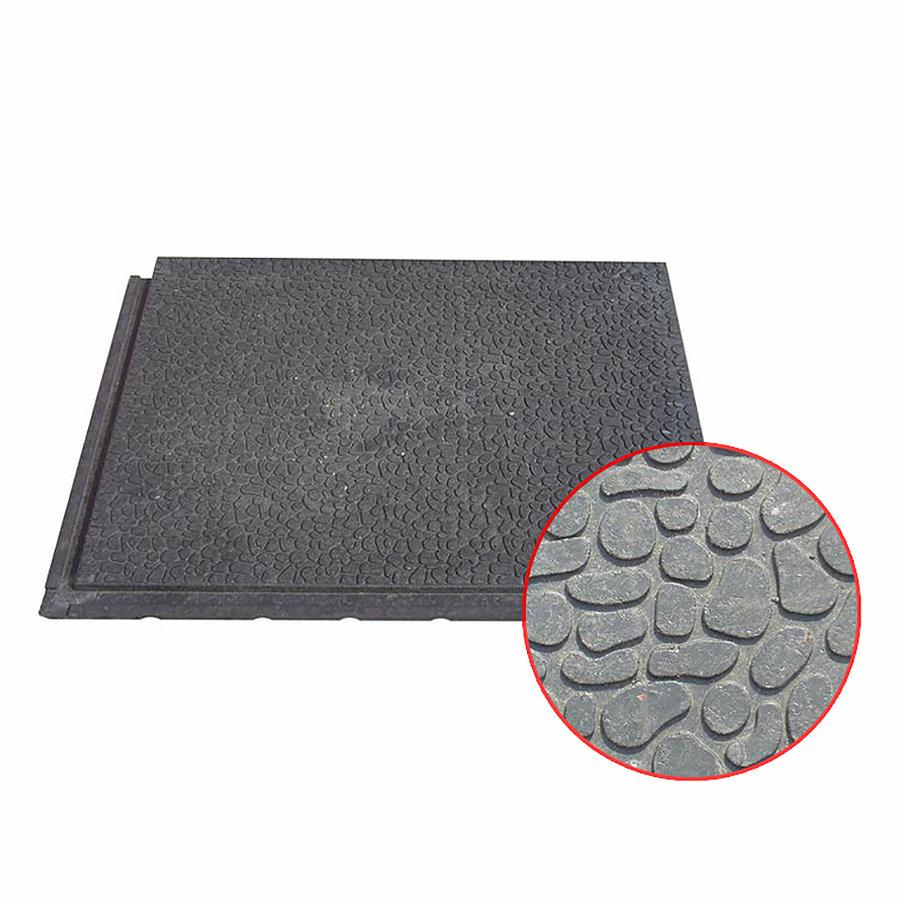 Plastová kamínková podlahová deska - délka 80 cm, šířka 60 cm a výška 2,2 cm