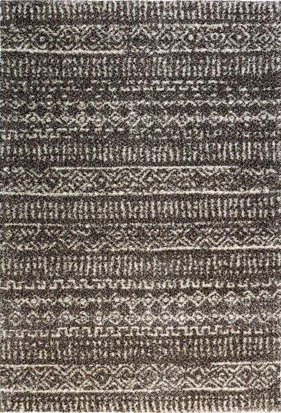 Béžovo-hnědý kusový moderní koberec Lana