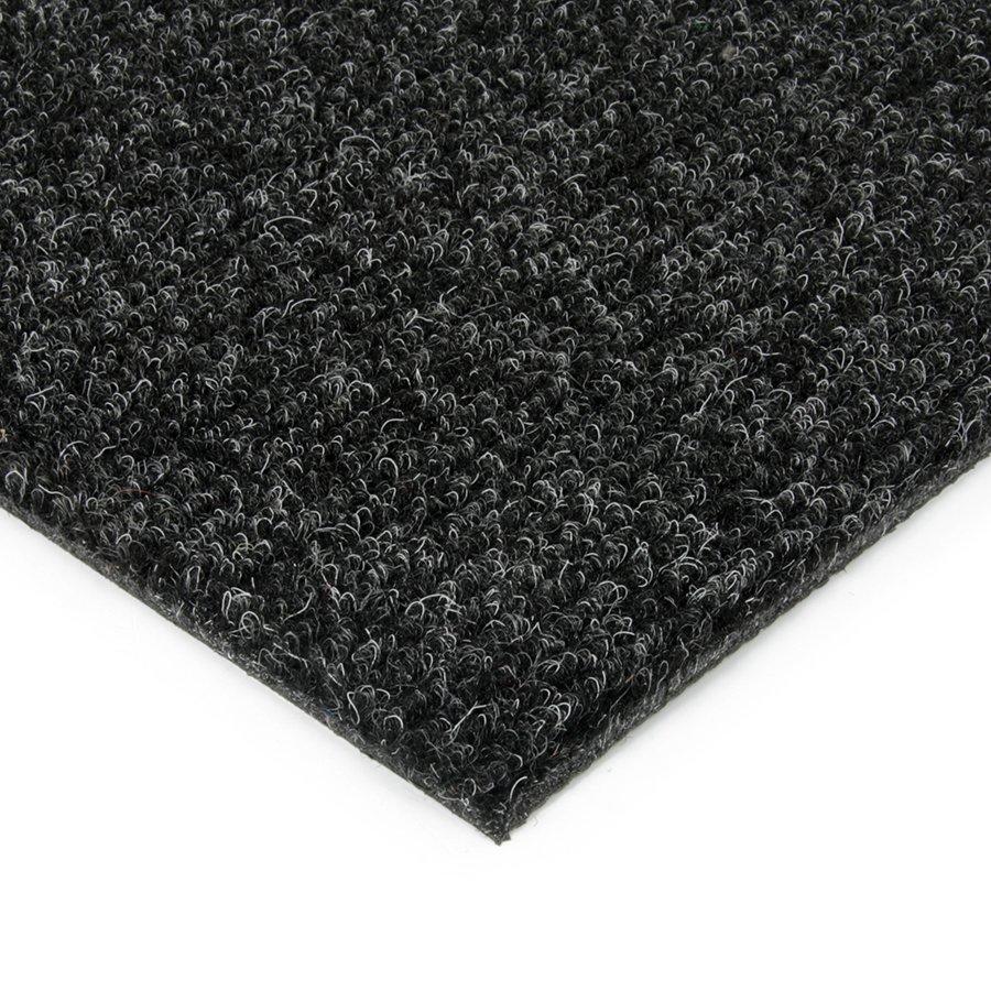 Černá kobercová vnitřní čistící zóna Catrine, FLOMAT - délka 100 cm, šířka 100 cm a výška 1,35 cm