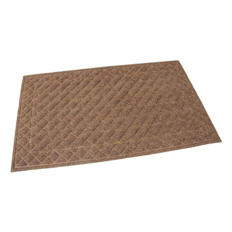 Hnědá textilní čistící venkovní vstupní rohož Bricks - Squares, FLOMAT - délka 75 cm, šířka 45 cm a výška 1 cm