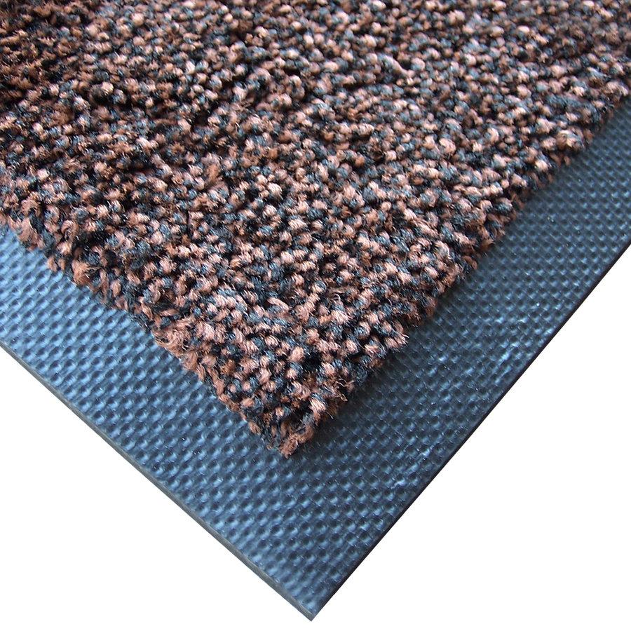 Hnědá textilní zátěžová čistící vnitřní vstupní rohož Magic - výška 0,8 cm