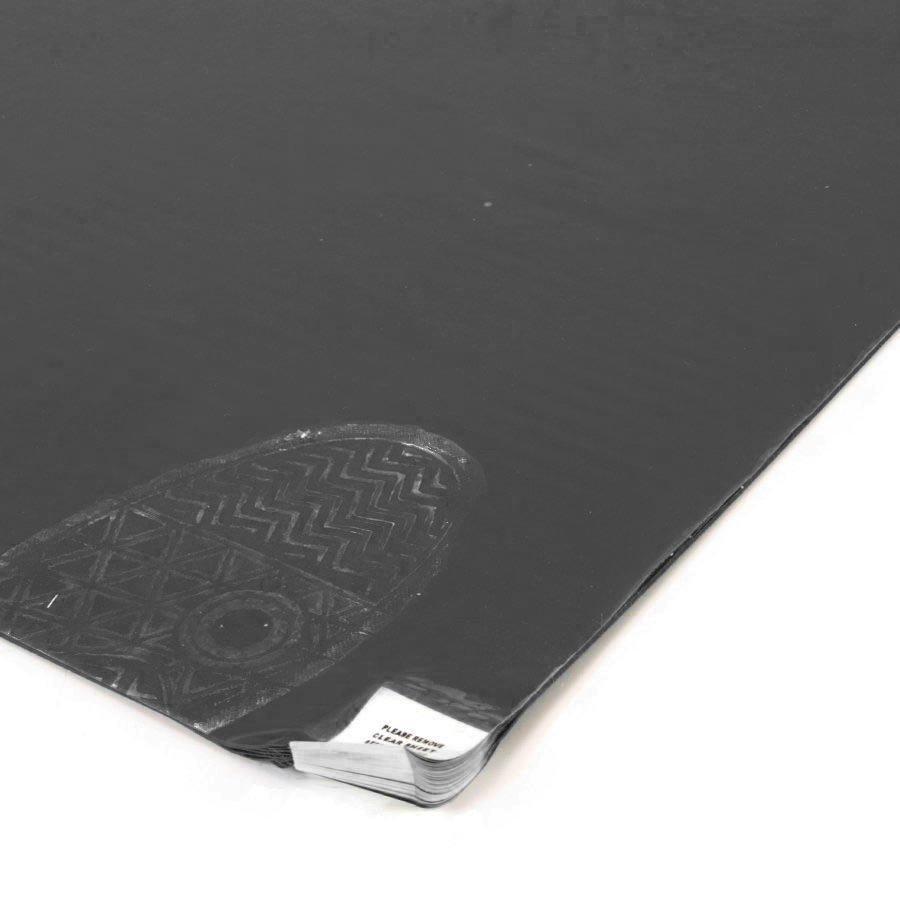 Šedá lepící dezinfekční antibakteriální dekontaminační rohož Antibacterial Sticky Mat, FLOMA - délka 45 cm a šířka 115 cm - 30 listů