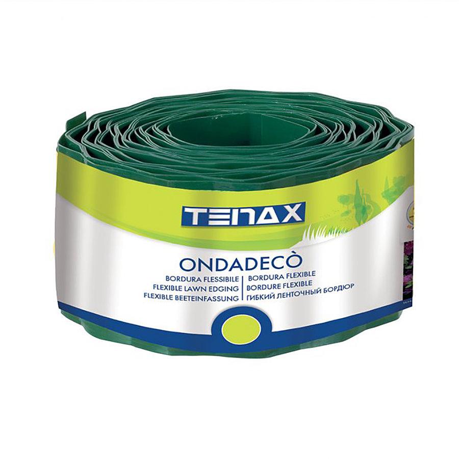 Zelený plastový zahradní obrubník Ondadeco - délka 10 m
