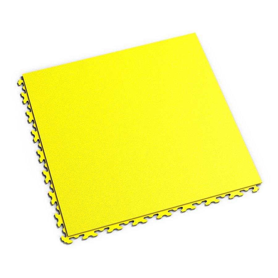 Žlutá plastová vinylová zátěžová dlaždice Invisible 2030 (hadí kůže), Fortelock - délka 46,8 cm, šířka 46,8 cm a výška 0,67 cm