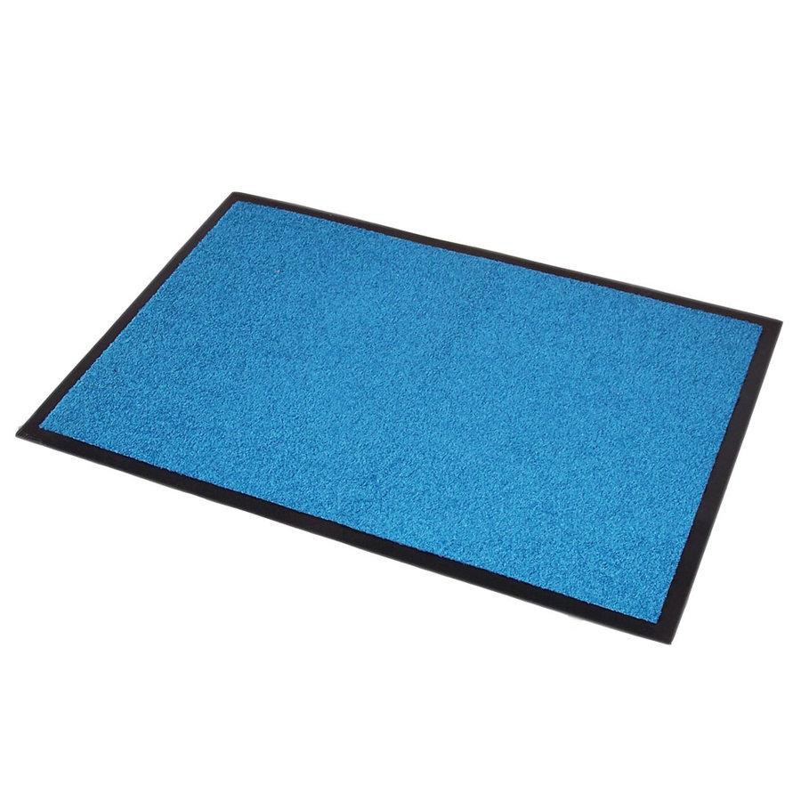 Modrá textilní čistící vnitřní vstupní rohož Twister - výška 0,7 cm