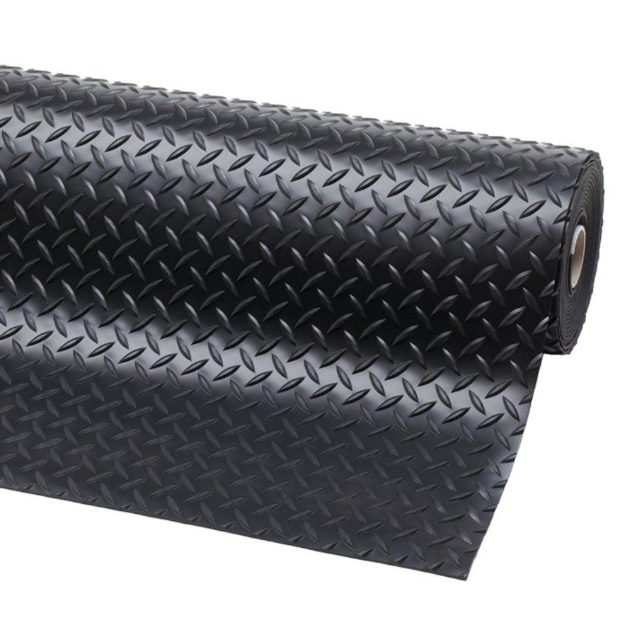 Černá metrážová protiskluzová rohož Diamond Plate Runner - délka 1 cm a výška 0,47 cm