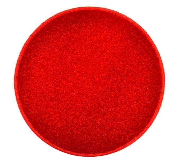Červený kusový kulatý koberec Eton