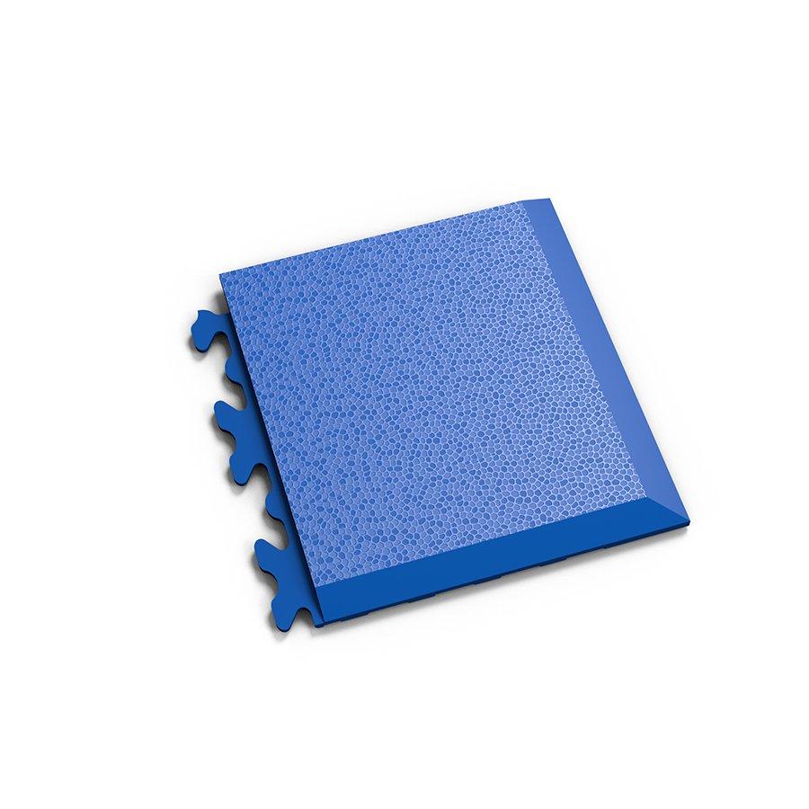 """Modrý plastový vinylový rohový nájezd """"typ D"""" Invisible 2039 (hadí kůže), Fortelock - délka 14,5 cm, šířka 14,5 cm a výška 0,67 cm"""