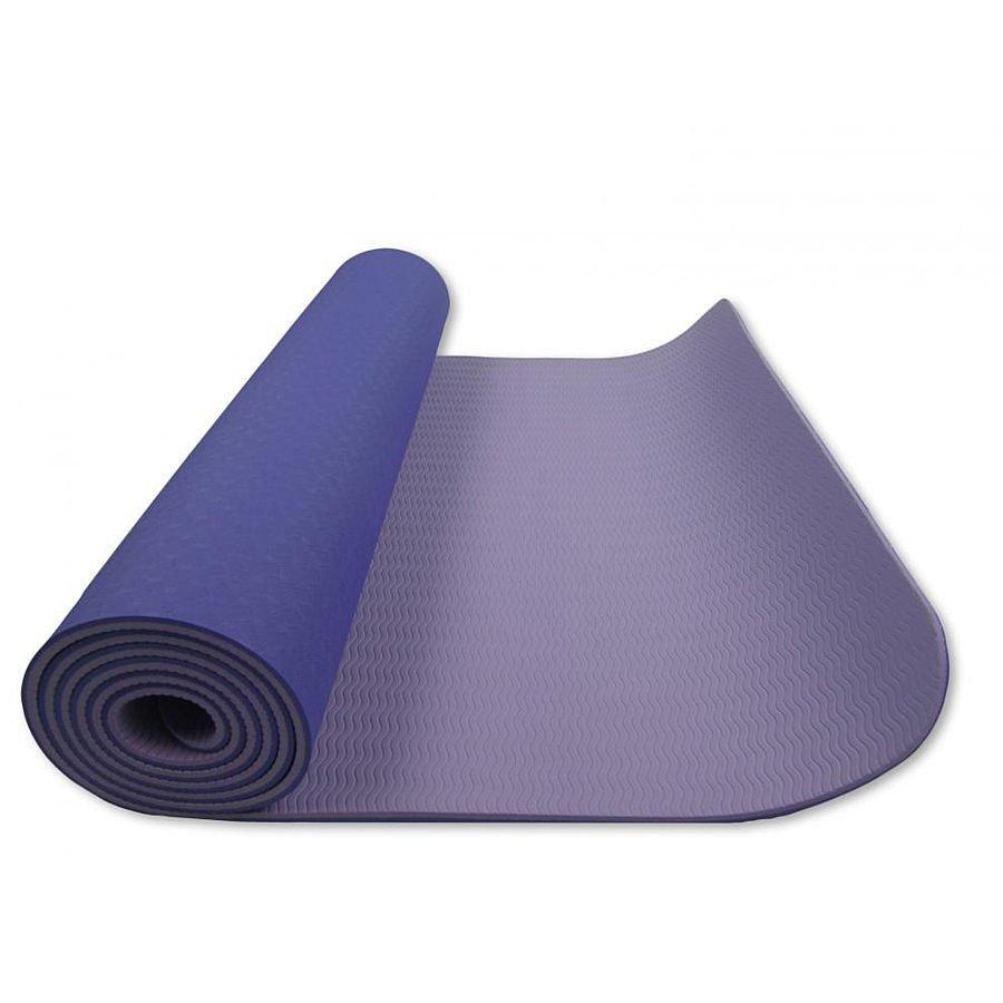Modro-fialová dvouvrstvá pěnová karimatka - délka 182 cm, šířka 61 cm a výška 0,6 cm