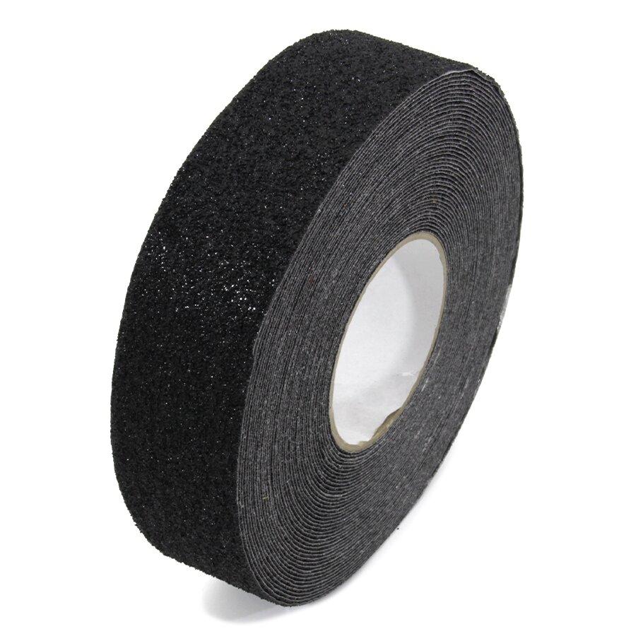 Černá korundová podlahová páska - 18,3 m x 5 cm