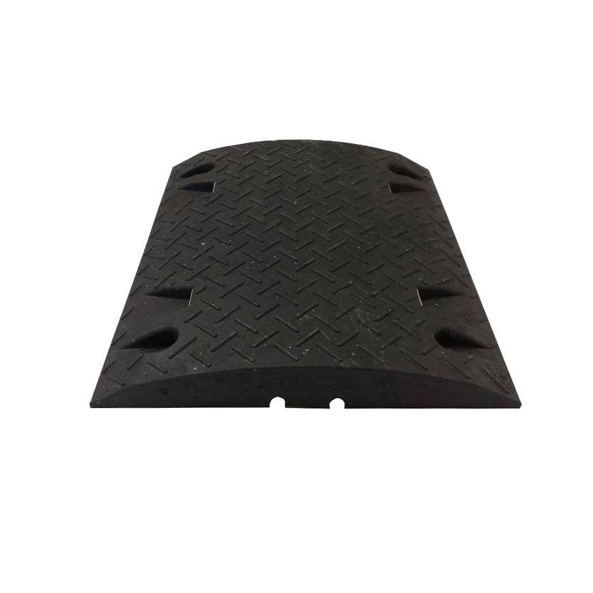 Černý plastový zpomalovací průběžný práh - 10 km / hod