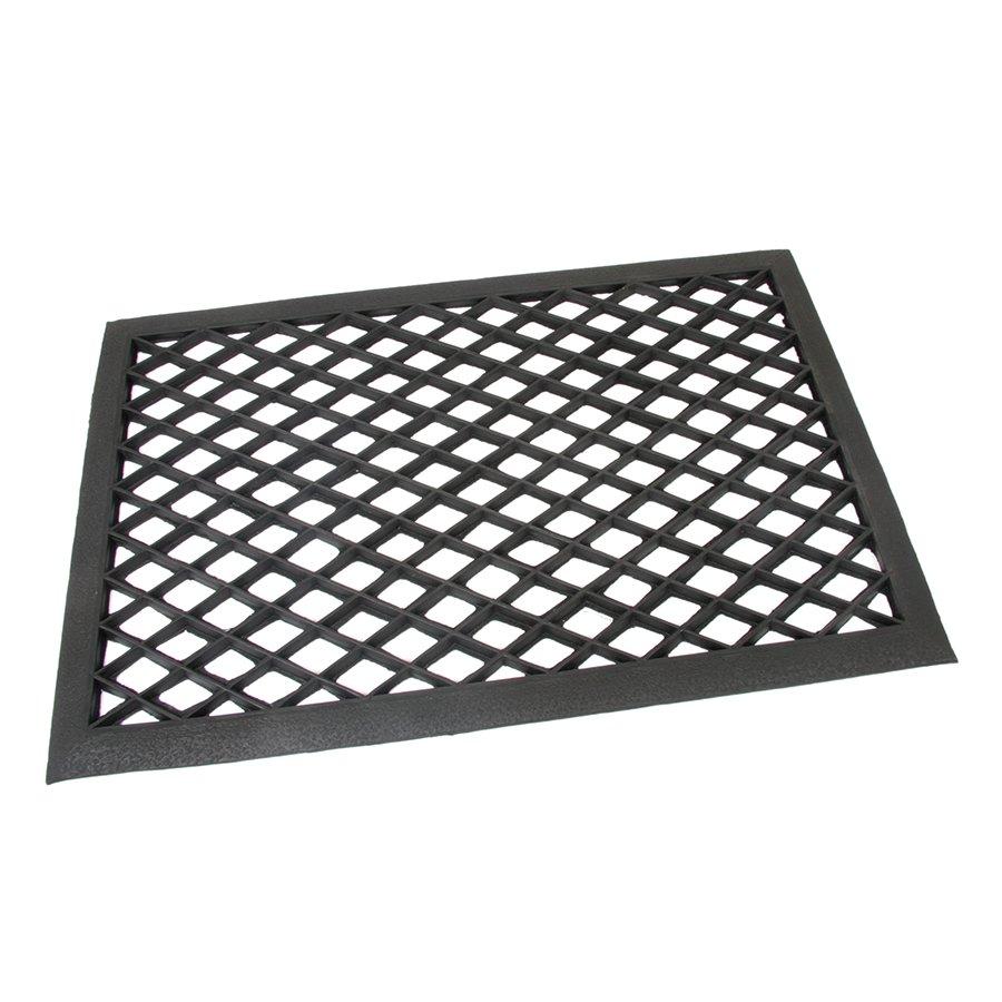 Černá gumová vstupní venkovní čistící rohož Simple, FLOMAT - délka 40 cm, šířka 60 cm a výška 1 cm