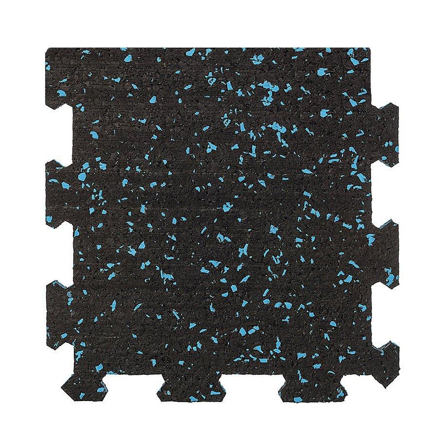Různobarevná pryžová (10% EPDM STANDARD) modulární deska (okraj) SF1100 - délka 98,6 cm, šířka 98,6 cm a výška 0,8 cm