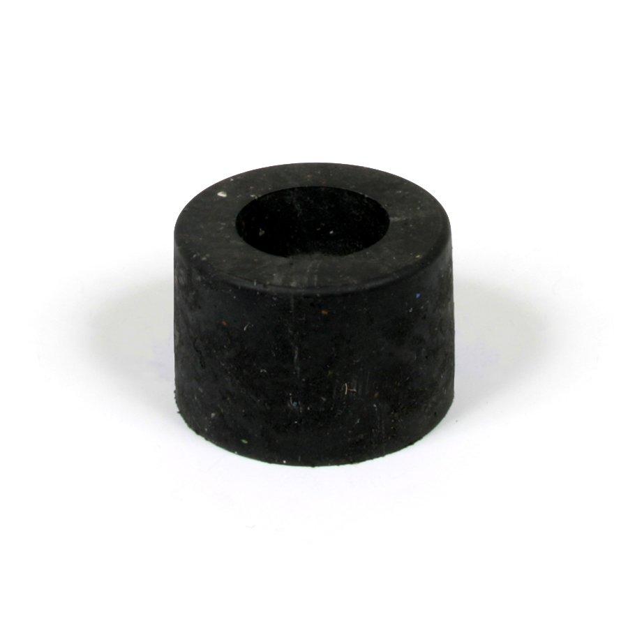 """Černá plastová koncovka """"samice"""" pro silniční obrubníky - délka 14,5 cm, šířka 14,5 cm a výška 10 cm"""
