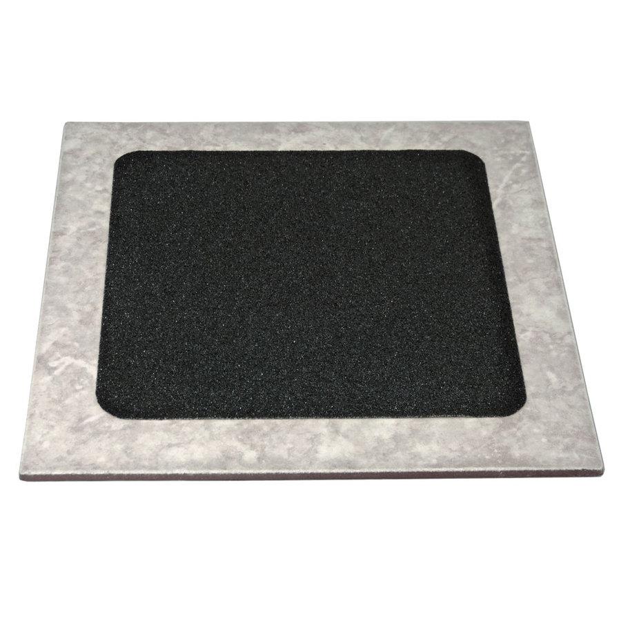 Černá korundová protiskluzová samolepící páska (dlaždice) - délka 24 cm a šířka 24 cm