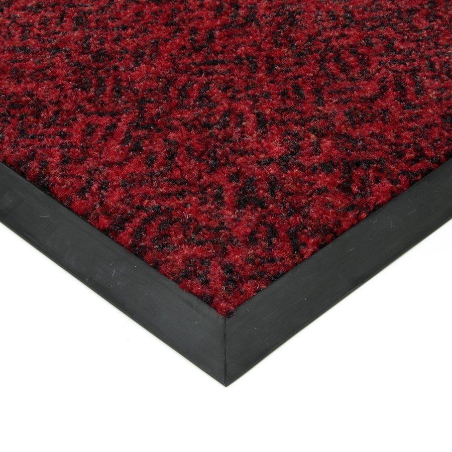 Červená textilní čistící vnitřní vstupní rohož Cleopatra Extra, FLOMAT - výška 1 cm