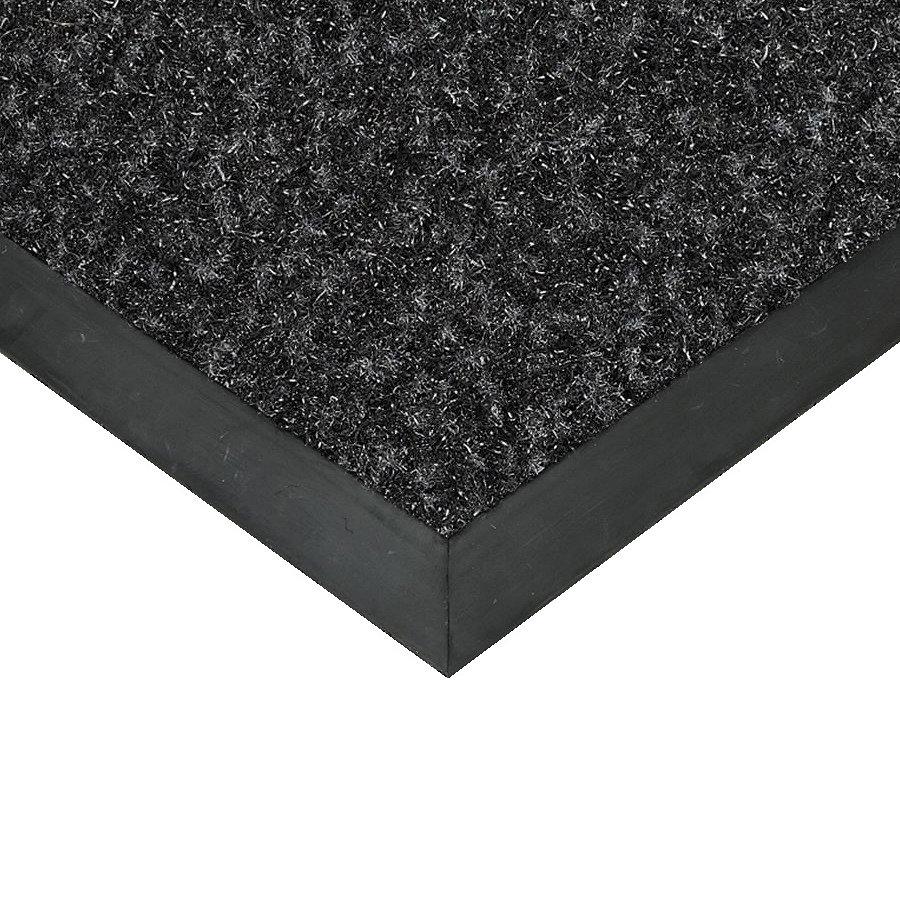 Černá textilní vstupní vnitřní čistící rohož Valeria, FLOMAT (Bfl-S1) - délka 1 cm, šířka 1 cm a výška 0,9 cm