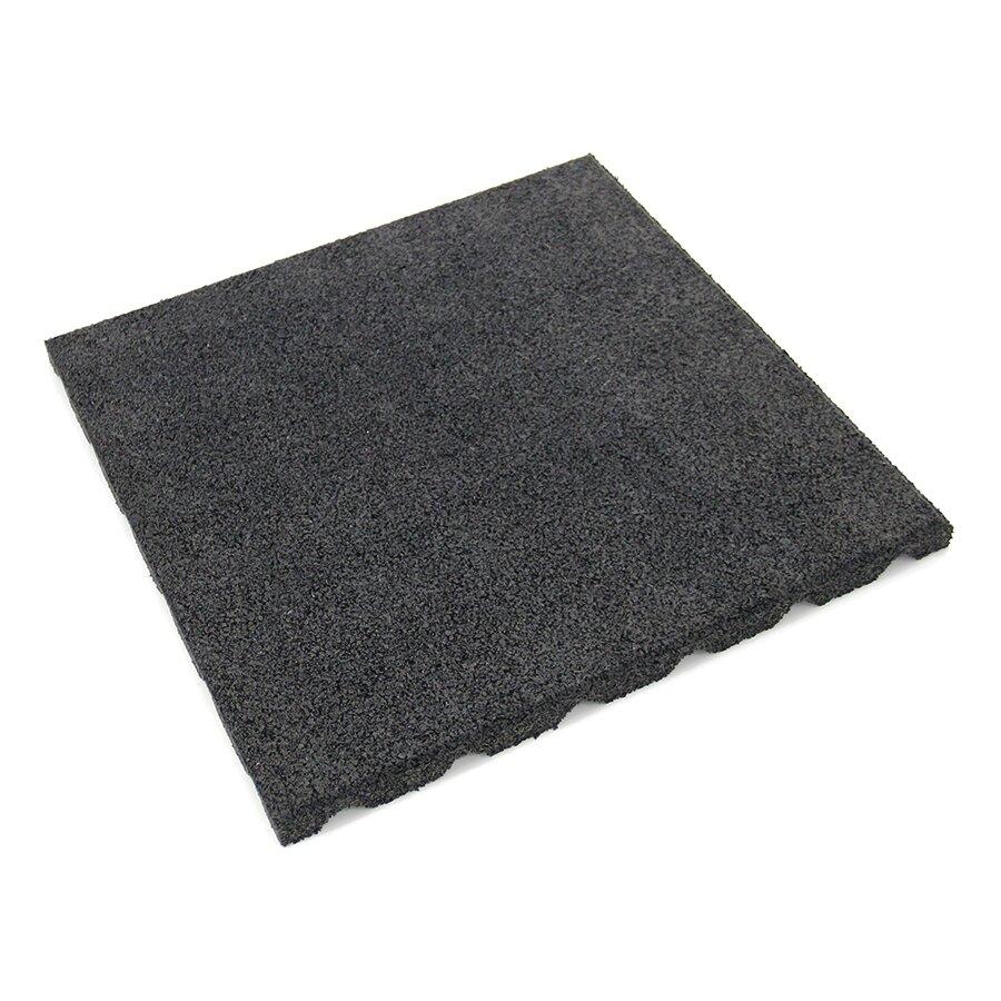 Černá gumová dlažba (V100/R75) FLOMA - 50 x 50 x 10 cm