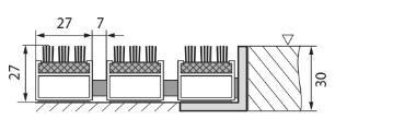Šedá hliníková vstupní venkovní kartáčová rohož Alu Super, FLOMA - délka 100 cm, šířka 100 cm a výška 2,7 cm