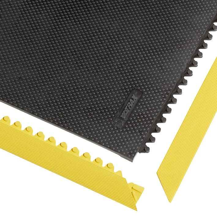 """Žlutá náběhová hrana """"samec"""" pro rohož Slabmat Carré - délka 91 cm a šířka 5 cm"""