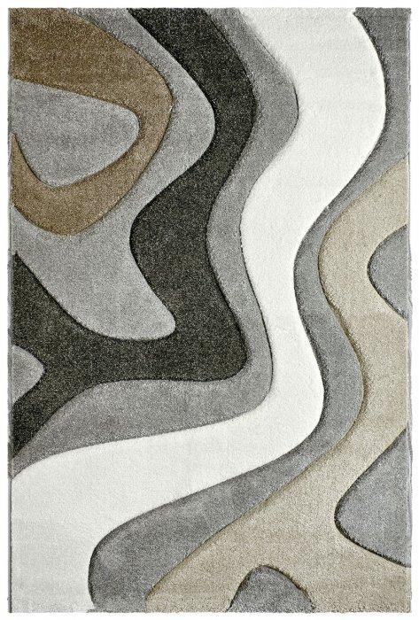 Šedý nebo béžovo-hnědý kusový moderní koberec Acapulco