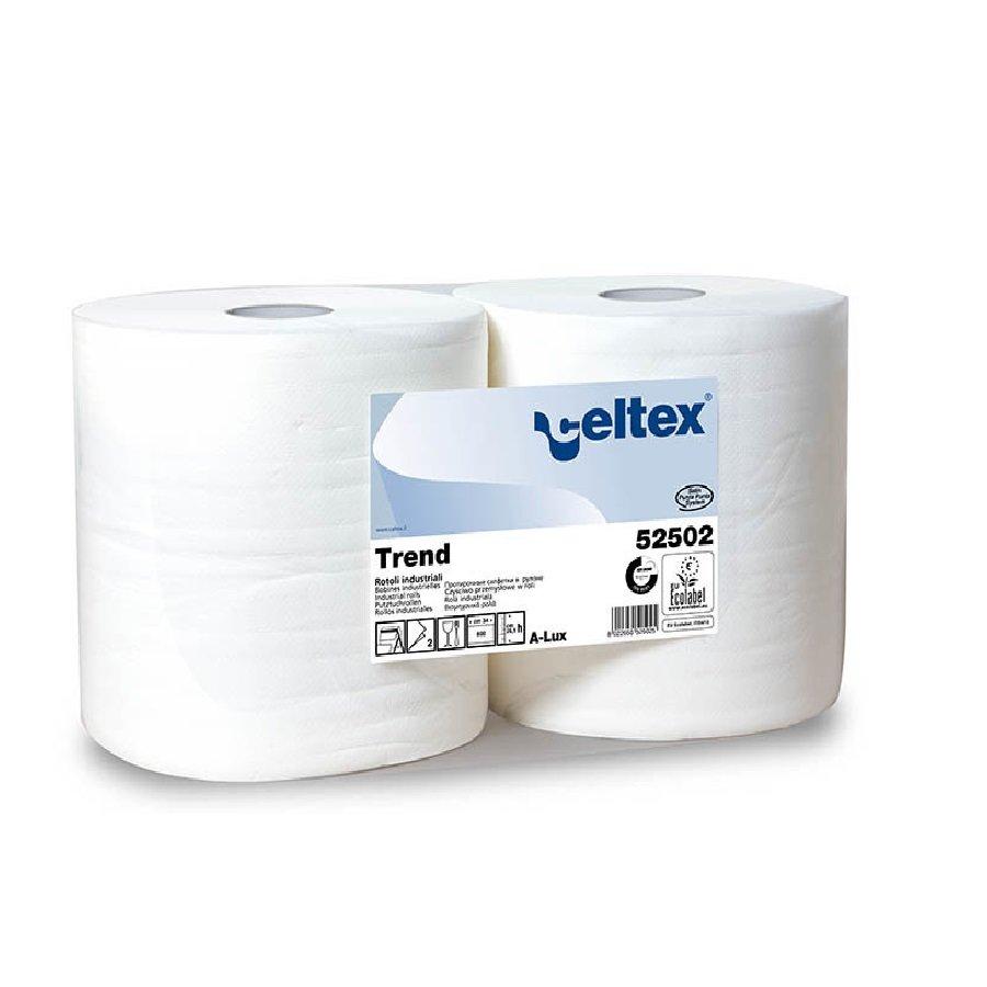 Papírová průmyslová čistící utěrka - délka 26,5 cm a šířka 34 cm - 800 útržků a 2 ks