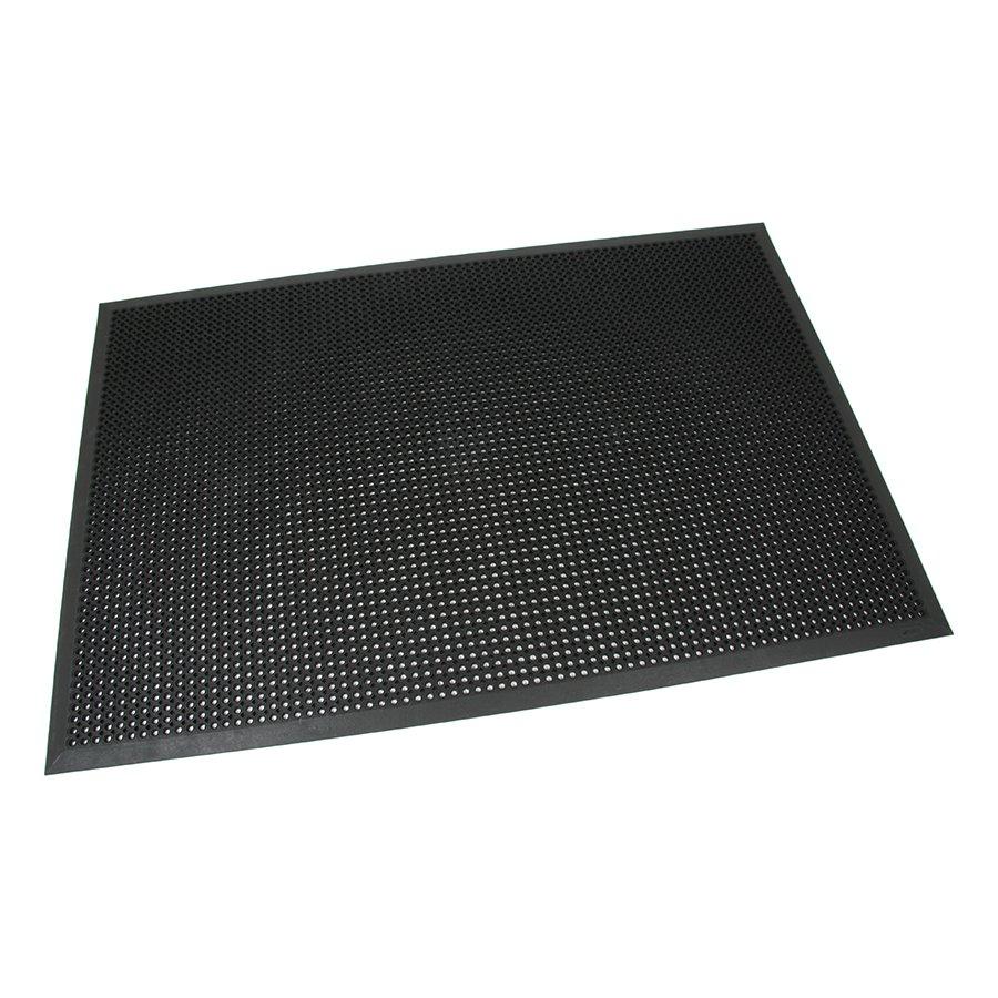 Černá gumová vstupní venkovní čistící rohož s obvodovou hranou Octomat Mini - délka 120 cm, šířka 180 cm a výška 1,4 cm
