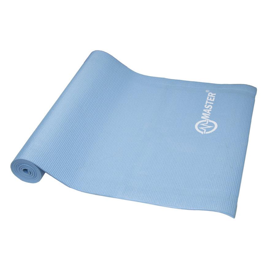 Modrá podložka na jógu a na cvičení - délka 173 cm, šířka 61 cm a výška 0,5 cm