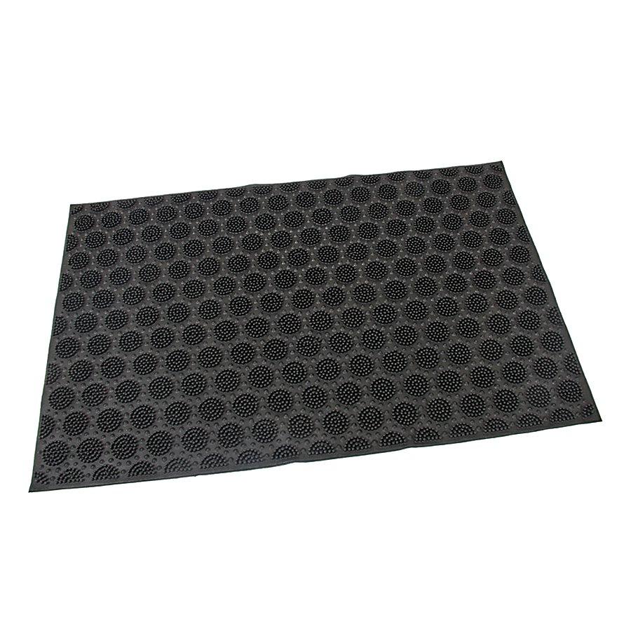 Gumová vstupní venkovní kartáčová čistící rohož Circles, FLOMAT - délka 60 cm, šířka 40 cm a výška 0,7 cm