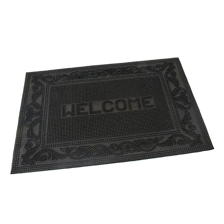 Gumová vstupní kartáčová rohož Welcome - Deco - 60 x 40 x 0,7 cm (70080101)