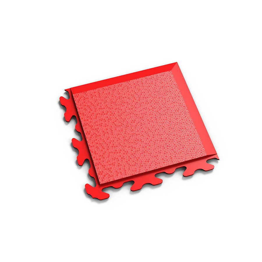 "Červený vinylový plastový rohový nájezd ""typ B"" Invisible 2037 (hadí kůže), Fortelock - délka 14,5 cm, šířka 14,5 cm a výška 0,67 cm"