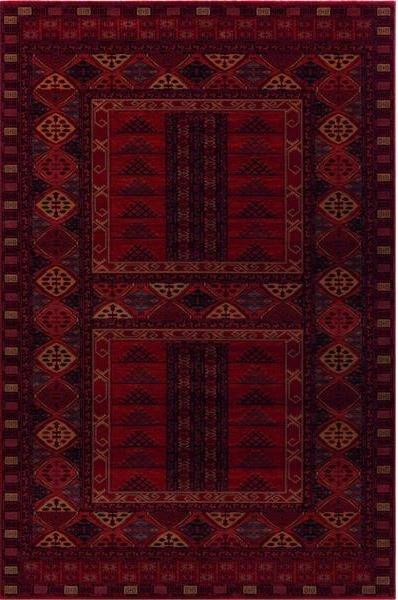 Červený orientální kusový koberec Kashqai - délka 170 cm a šířka 120 cm