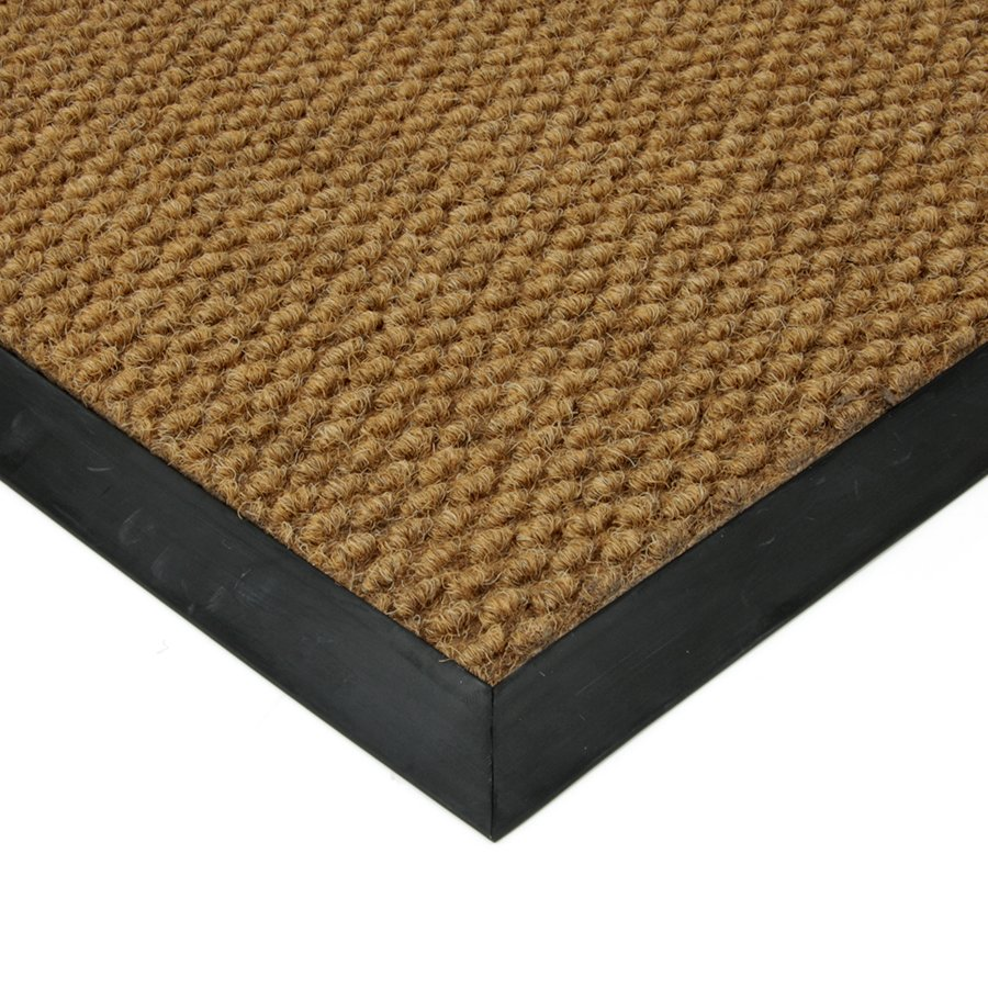 Béžová textilní vstupní vnitřní čistící zátěžová rohož Fiona, FLOMA - délka 110 cm, šířka 160 cm a výška 1,1 cm