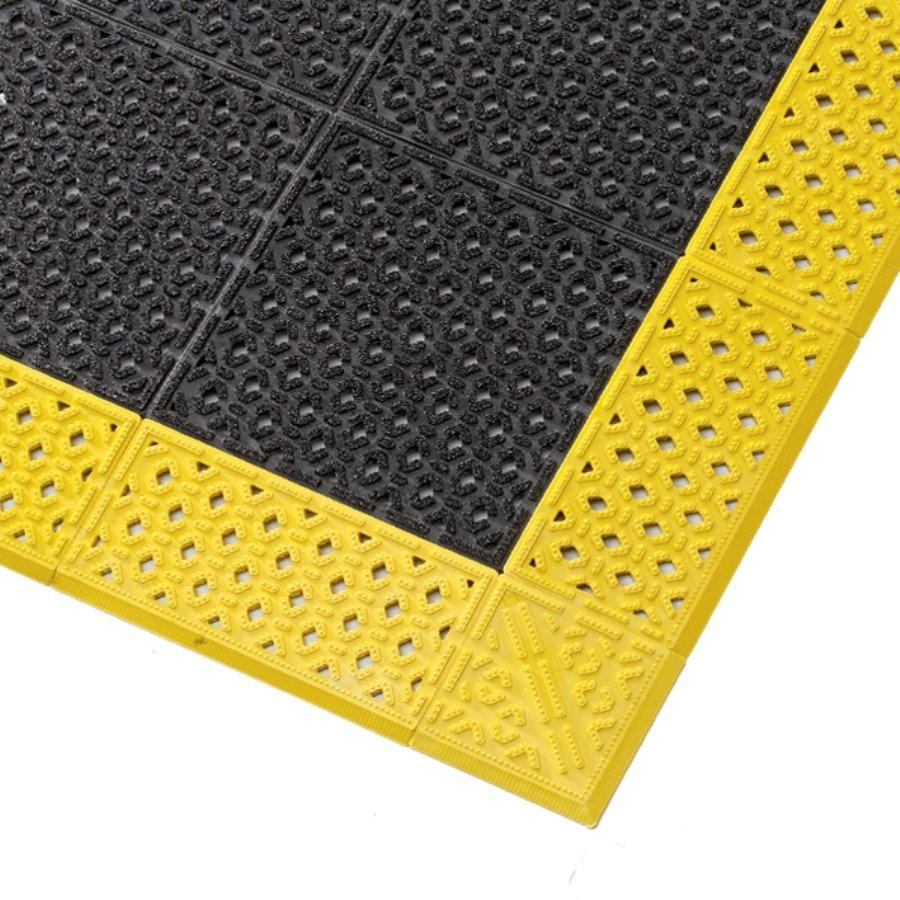 Černá plastová děrovaná rohož Cushion Lok HD, Grip Step - 76 x 152 x 2,2 cm (81716183) FLOMAT