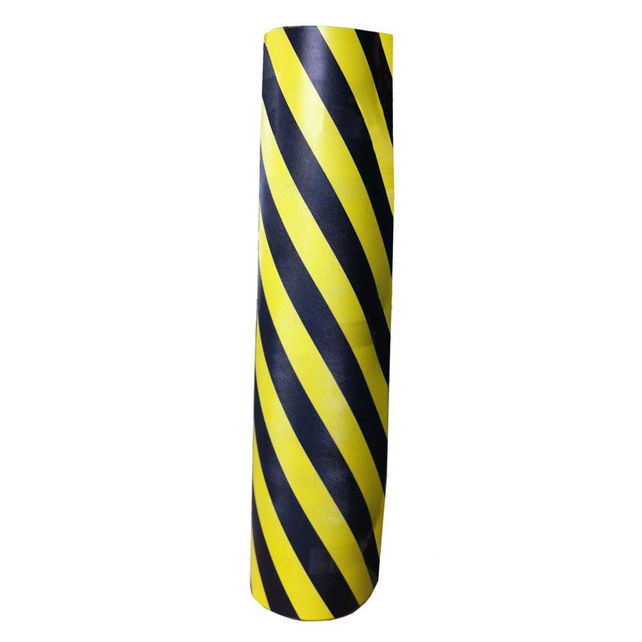 Černo-žlutý pěnový pás na ochranu stěn - délka 150 cm, šířka 100 cm a výška 1 cm