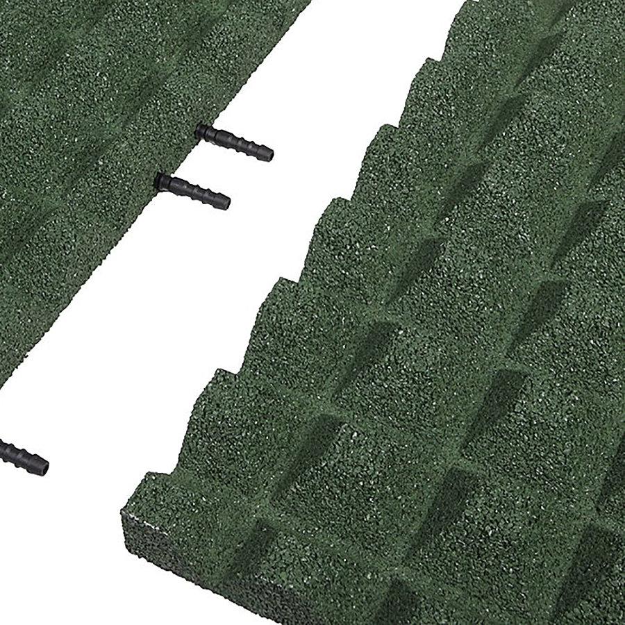Zelená gumová krajová deska (V40/R28) - délka 50 cm, šířka 25 cm a výška 4 cm