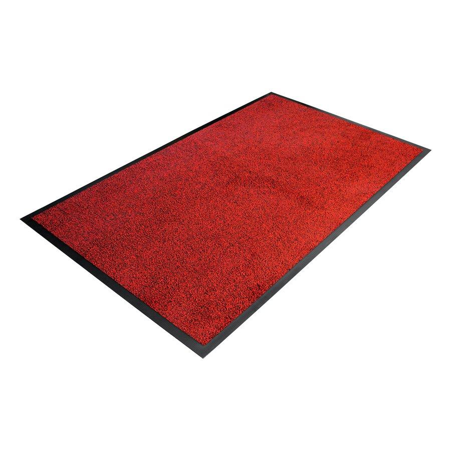 Červená textilní vstupní vnitřní čistící rohož - délka 115 cm, šířka 175 cm a výška 0,9 cm