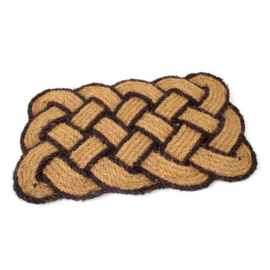 Kokosová čistící venkovní vstupní rohož Jumbo Rectangle Brown, FLOMAT - délka 75 cm, šířka 45 cm a výška 3,5 cm