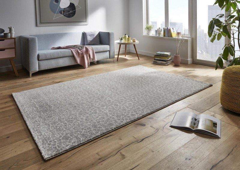 Šedý moderní kusový koberec Tifany - délka 150 cm a šířka 80 cm