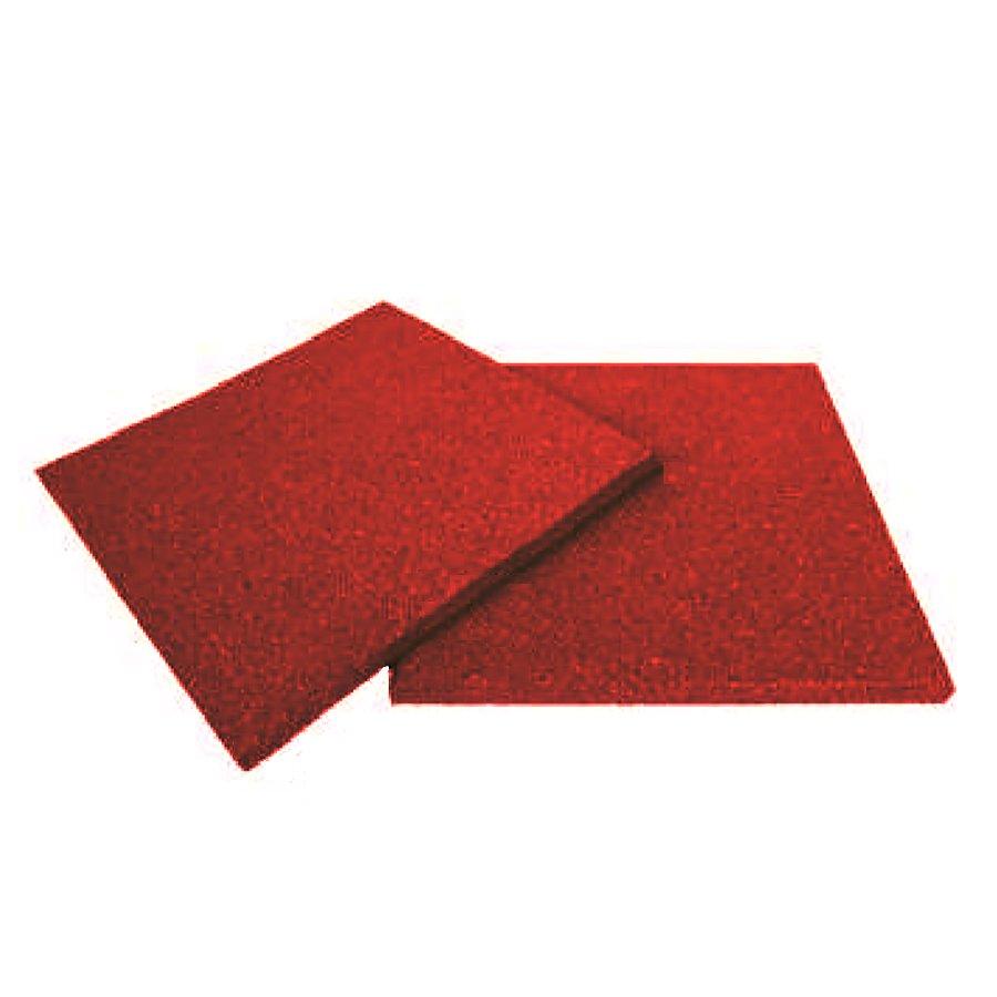 Červená gumová dlaždice (V20/R00) - délka 50 cm, šířka 50 cm a výška 2 cm