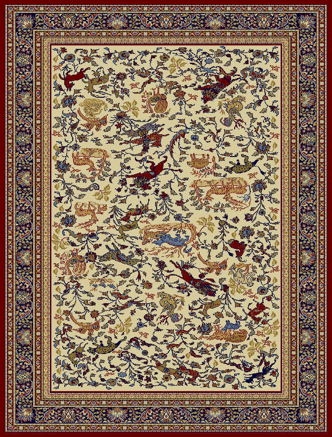 Červený kusový koberec Tashkent