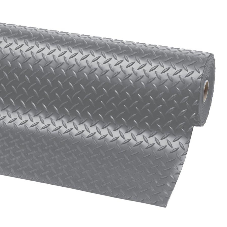 Šedá protiskluzová rohož Diamond Plate Runner - šířka 91 cm a výška 0,47 cm